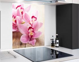 ORCHIDEE W RÓŻU - hartowany panel szklany - grafika