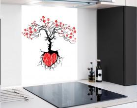 MIŁOŚĆ Z NATURY - hartowany panel szklany - grafika