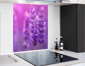 LAWENDA W SŁOŃCU - panel szklany - grafika