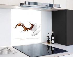 KAWA W LOCIE - hartowany panel szklany