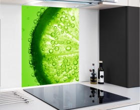 ZIELONA LIMONKA - hartowany panel szklany - grafika