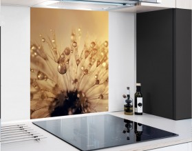 DMUCHAWIEC W ZŁOTEJ ROSIE - hartowany panel szklany - grafika