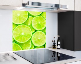 LIMONKOWE TŁO - panel szklany