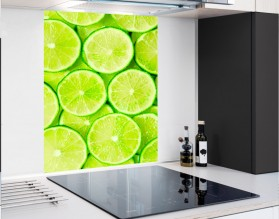 LIMONKOWE TŁO - panel szklany - grafika