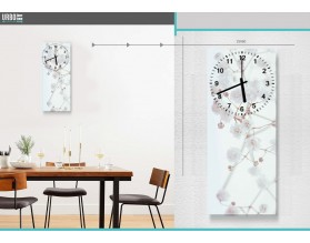 WIOSENNA BIEL - zegar szklany