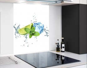 ŚWIEŻOŚĆ LIMONKI - hartowany panel szklany - grafika