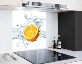 POŁÓWKA POMARAŃCZY W WODZIE - hartowany panel szklany