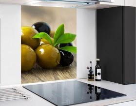 OLIWKI - hartowany panel szklany - grafika