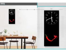 PAPRYKA Z DYMKIEM minimalistycznie - zegar szklany