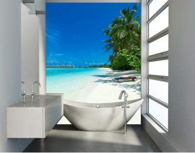 ON THE BEACH - panel szklany do łazienki