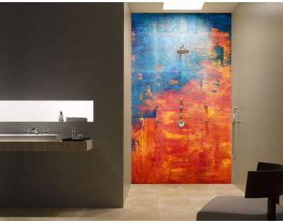 ABSTRACT BEACH - hartowany panel szklany do łazienki