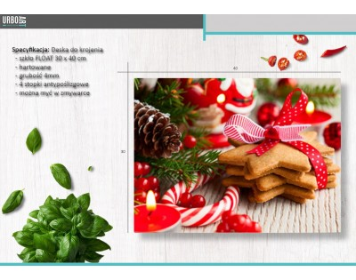 CHRISTMAS COOKIES - szklana deska do krojenia