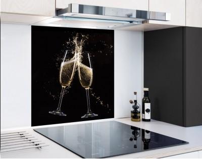 KIELISZKI SZAMPANA - hartowany panel szklany