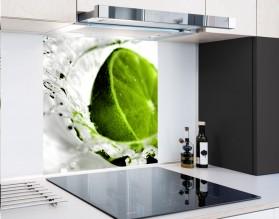 LIMONKA W WODZIE - hartowany panel szklany - grafika