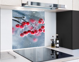 ZIMOWA JARZĘBINA - hartowany panel szklany