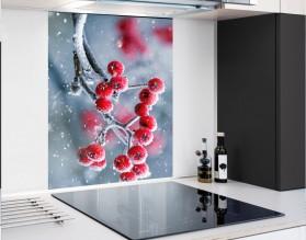 ZIMOWA JARZĘBINA - hartowany panel szklany - grafika