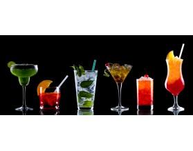 DRINKI - hartowany panel szklany do kuchni - grafika
