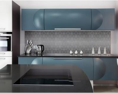 GRAY GEOMETRY DASCH - hartowany panel szklany do kuchni
