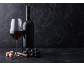 RED WINE - hartowany panel szklany do kuchni - grafika