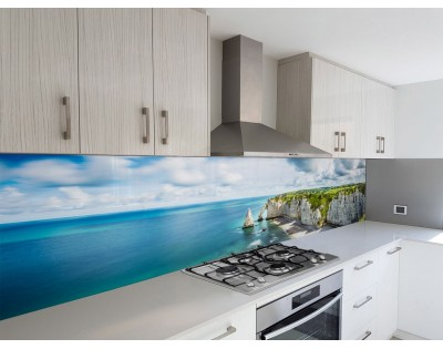 NADMORSKIE SKAŁY - hartowany panel szklany do kuchni