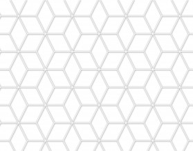 WHITE GEOMETRY DASCH - hartowany panel szklany do kuchni - grafika