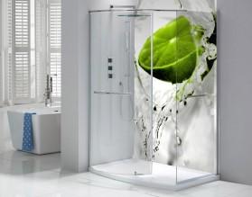 LIMONKA W WODZIE - hartowany panel szklany do łazienki