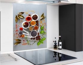 KOLOROWE PRZYPRAWY - hartowany panel szklany - grafika