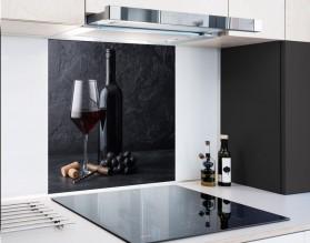 RED WINE - hartowany panel szklany