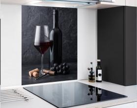 RED WINE - hartowany panel szklany - grafika