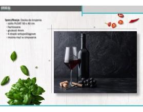 RED WINE - szklana deska do krojenia