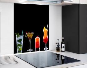 DRINKI - hartowany panel szklany - grafika