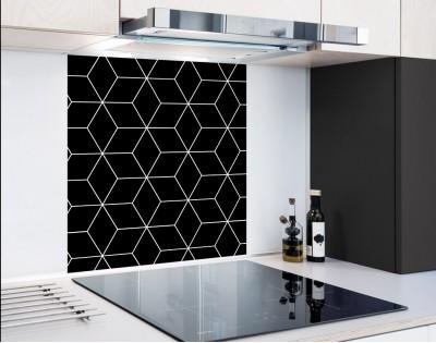 BLACK GEOMETRY DASH - hartowany panel szklany