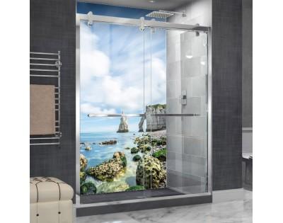 KLIFY NORMANDII - hartowany panel szklany do łazienki