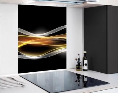 WYPRZEDAŻ! PŁOMIENNA FALA - hartowany panel szklany 60,3x75