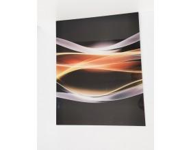 WYPRZEDAŻ! PŁOMIENNA FALA - hartowany panel szklany 60,3x75 - grafika