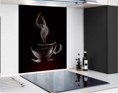 WYPRZEDAŻ! KAWA Z PARY - hartowany panel szklany 60x80