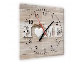 WELCOME HOME - zegar szklany