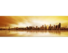 ZMIERZCH NAD SEATTLE - panorama - obraz na płótnie - grafika