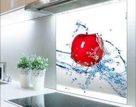 JABŁKO W WODZIE - hartowany panel szklany