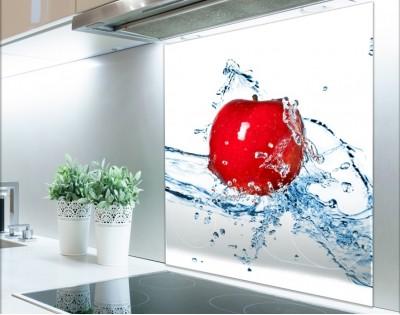 JABŁKO W WODZIE - panel szklany