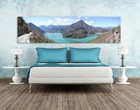 GÓRY W BŁĘKICIE - panorama - obraz na szkle