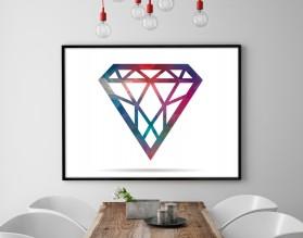 DIAMENT - minimialistyczny plakat w ramie - grafika