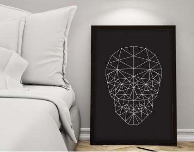 GEOMETRIC SKULL - plakat minimalistyczny