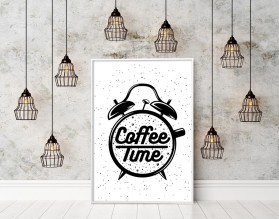 COFFEE TIME - plakat typograficzny