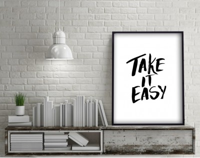 TAKE IT EASY - plakat typograficzny