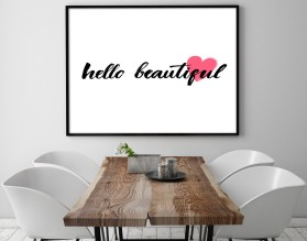HELLO BEAUTIFUL - plakat w ramie