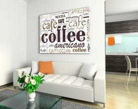 COFFEE AMERICANO - typograficzny obraz na płótnie