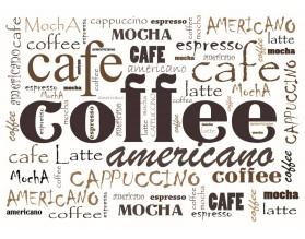 COFFEE AMERICANO - typograficzny obraz na płótnie - grafika