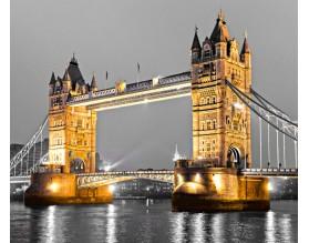 TOWER BRIDGE W ZŁOCIE - obraz na płótnie - grafika