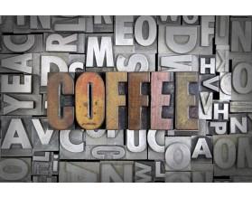 COFFEE GRUNGE- typograficzny obraz na płótnie - grafika